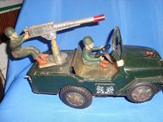 Old Vintage Tin Battery Operated Army Jeep Toy From India 1960  #ArmyJeepToy