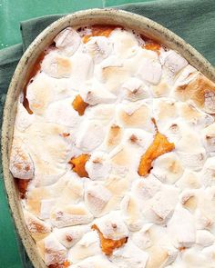 Sweet Potato Casserole *add cinnamon to sweet potato mixture and a little bit of brown sugar on top before adding marshmallow