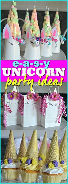 Host an amazing unicorn birthday party using these inexpensive and easy DIY ideas.