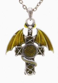 Dragon Cross Necklace [J126] - $12.99 : Mystic Crypt, the most unique, hard to find items at ghoulishly great prices!