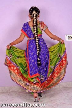 Indian identity pinterest langa voni half saree and saree