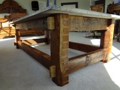 Granite Top Coffee Table Photo1