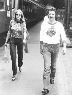 Pattie Boyd & Eric Clapton (source Facebook)