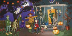 Halloweenin opevinkit Halloween, Painting, Painting Art, Paintings, Painted Canvas, Drawings, Spooky Halloween