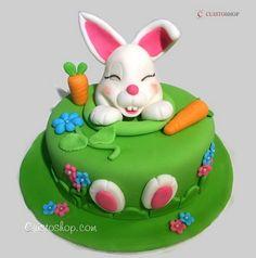 Gâteau lapin avec modelage - vidéo