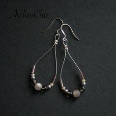 Moon Pearl earrings on sterling SILVER £15.00