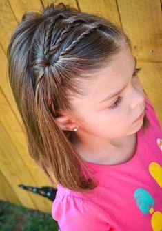 Mädchen-Frisuren für Kinder # Frisuren - Mode fille: toutes les idées et les tendances Little Girl Haircuts, Baby Girl Hairstyles, Hairstyles For School, Cute Hairstyles, Braided Hairstyles, Hairstyle Ideas, Gorgeous Hairstyles, Teenage Hairstyles, Toddler Hairstyles