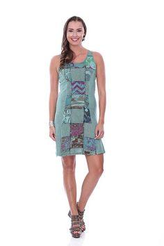 Parsley & Sage Sea Green Tank Dress | PJ's Unique Peek | Women's Clothing Boutique | FREE SHIPPING!