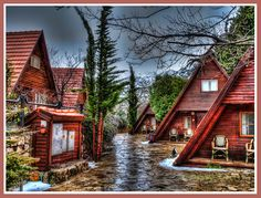Cabins in a cold winter day, Golan Heights, Israel, via Flickr.