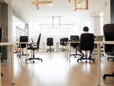 Here are ten great coworking options in NYC, whether you're looking for a new place to set up shop, or just browsing for some great ideas to spice up your own office. Traditional Office, Cleaning Companies, Coworking Space, Office Cleaning, Table, Spice, Blog, Furniture, Business