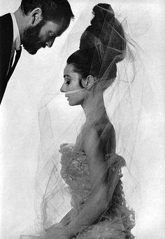 Audrey Hepburn and husband Mel Ferrer in Vogue Paris - May 1963