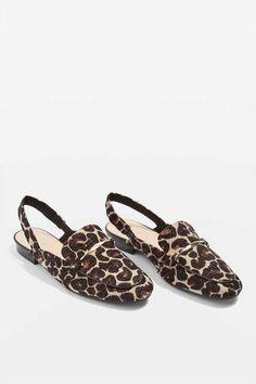 c905c9c7c4c Topshop Lemonade slingback loafers Cheetah Print Clothes