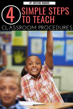 Well-defined classroom procedures and routines are key to a strong management plan. Read this post for tips on how to improve your classroom management. 5th Grade Classroom, Middle School Classroom, Classroom Management Plan, Classroom Procedures, Learning Time, Classroom Community, Special Education Teacher, New School Year, Elementary Teacher