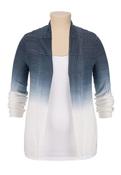 Ombre open front plus size cardiwrap (original price, $39) available at #Maurices