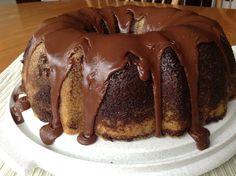 [Homemade] Lemon-Chocolate Marbled Bundt Cake