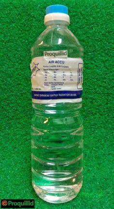Air Accu / Aki Distilled and Demineralized Water / Air Sulingan dan Demineralisasi (Aquadest) 1000 ML - FAJAR (Untuk Isi Ulang Air Accu / Aki yang Kurang / Habis dan Dapat Dipakai untuk Radiator Mobil)