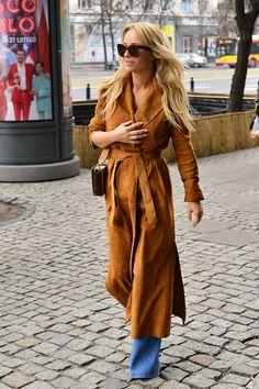 La Mania's brown suede coat