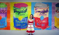 Campbell's Soup Can mural with 4th grade art class...and made a dress to match!
