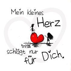 """Mein kleines #Herz ❤️ #schlägt nur für #dich. #spuch #sprüche #sprüche4you  #spruchdestages ✅ Merkt euch das  """"Man darf niemals als erster zugeben,wenn man jemanden mag. So bleibt man..."""