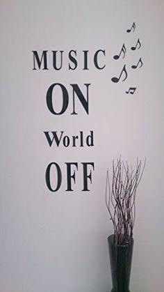 """Music ON World OFF"" 3D Wandtattoo aus Acrylglas / Plexiglas CHRISCK design http://www.amazon.de/dp/B0100TDWWS/ref=cm_sw_r_pi_dp_iiOJvb1HET0R4"
