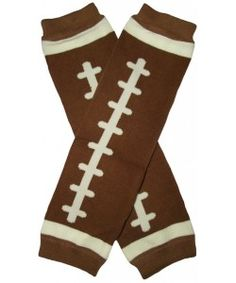 Too cute, these things. Our fabulous brown football leg warmers are back in stock! Only $3.99!
