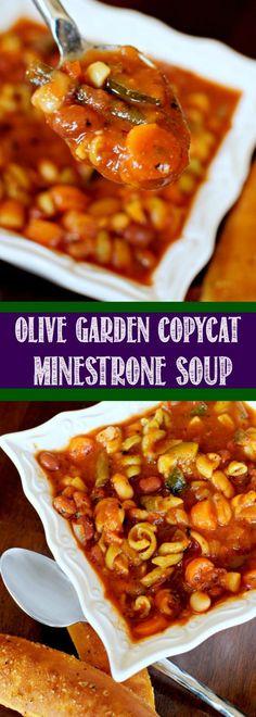 Olive Garden Minestrone Soup Copycat Recipe - GIRLS DISHES