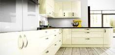 Astro Vanilla Gloss kitchen design - http://www.unitsonline.co.uk/gloss-kitchens