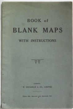 Book of Blank Maps (with instructions)