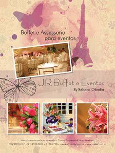 Anúncio desenvolvido para a Jr Buffet e  Eventos para veículação na revista Inesquecível Festa 15 Anos.  Arte: Jones Rodrigues  Cliente: JR Buffet & Eventos  Agência: 3R Studio Comunicação  Ano: 2010