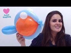 Como fazer um peixe utilizando balões - YouTube