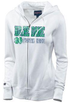 Product: University of Notre Dame Fighting Irish Women's Full-Zip Hooded Sweatshirt