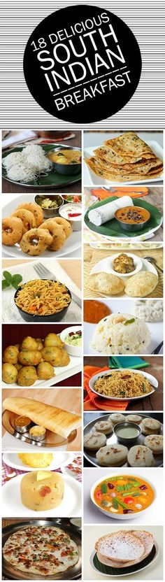 This post talks about the best south Indian recipes you can ever find! Go ahead and read! Breakfast Dishes, Veg Breakfast Recipes Indian, South Indian Vegetarian Recipes, South Indian Foods, South Indian Thali, South Indian Sweets, Best Indian Recipes, Breakfast Ideas, Indian Snacks