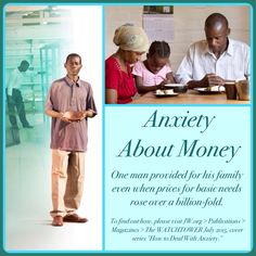 "Anxiety About Money -  One man provided for his family even when prices for basic needs rose over a billion-fold. To find out how, please visit JW.org > Publications > Magazines > The WATCHTOWER July 2015, cover series ""How to Deal With Anxiety."" ༺♥༻ Want to learn more? Under ""Contact Us"" just ""Request a Bible Study!"" All at no charge. JW.org also has the Bible and study aids to read, watch, listen and download in several languages. Plus now TV.JW.org!"