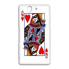 batman joker harley quinn poker card Sony Xperia Z case cover, US $18.89
