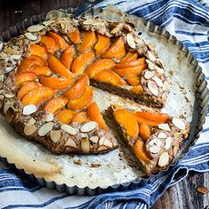 Apricot almond galette – flakey buttery crust, almond frangipane filling, and jammy sweet apricot on top complete this rustic summer galette.