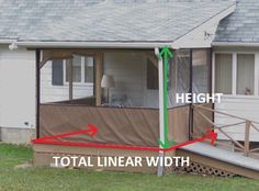 Weatherproof Your Porch or Patio With Affordable Clear Vinyl Plastic Patio Enclosures. Custom-made, Marine-grade Quality at a Terrific Price. Outdoor Screen Room, Privacy Screen Outdoor, Porch Curtains, Panel Curtains, Curtain Panels, Outdoor Curtains, Porch Enclosures, Screen House, Building A Porch