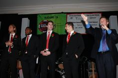 Braden Holtby, Joel Ward, Tom Wilson, Connor Carrick~2014 Caps Casino Night ~Washington Capitals~