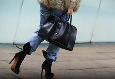 Street Style New York Fashion Week FW13 suede boots