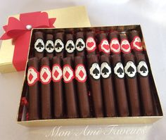 Personalized Belgian Chocolate Cigar Favors by MonAmiFaveurs