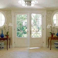 Double glass front doors