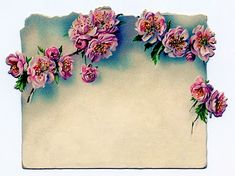 Vintage Clip Art - Rose Garland Label - The Graphics Fairy