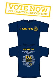 This tee was designed by Magna Vista FFA from VA!