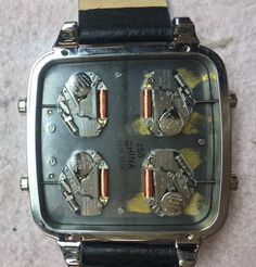 Diesel watch back (with 4 movements!)
