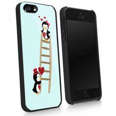 PINGUIN LOVE - iPhone 4 Case, iPhone 4s Case and iPhone 5 case Hard Plastic Case!! So cute!!