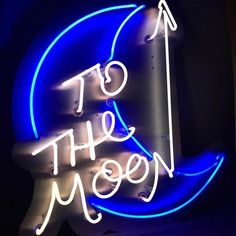 To The Moon Neon Sign Light Home Decor Wedding Custom Neon Rosa, Loona Kim Lip, Neon Words, Neon Aesthetic, All Of The Lights, A Silent Voice, Sign Lighting, Sign Quotes, Neon Signs Quotes