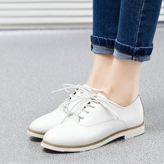 2016 Women Shoes Genuine Leather Oxford Shoes For Women Flats Shoes Woman Moccasins Ballet Flats Zapatos Mujer Size 35-40