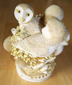Harmony Kingdom~Ivory Tower~Owls~Large~Box Figurine~LE~Signed~Number #4244/7200