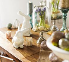 Create an #Easter vignette to display your favorite spring treasures.