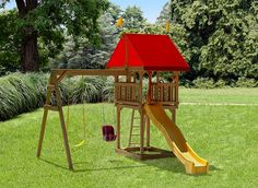 Wooden Childrenu0027s Tiny Treasure Swing Set With Slide By Play Mor Swings Sets  Of Amish Country, Ohio. Quality Sturdy Wood Playset Creates Hours Of  Outdoor ...