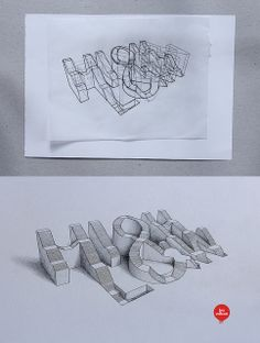 High&Low // 3D Typography by Lex Wilson
